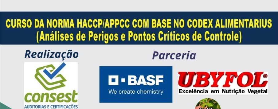 Curso da norma HACCP/APPCC com base no codex alimentarius